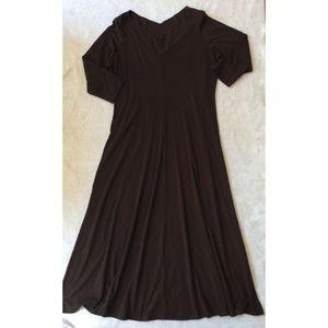 Newport News Womens A-line Maxi Dress Sz XL Brown